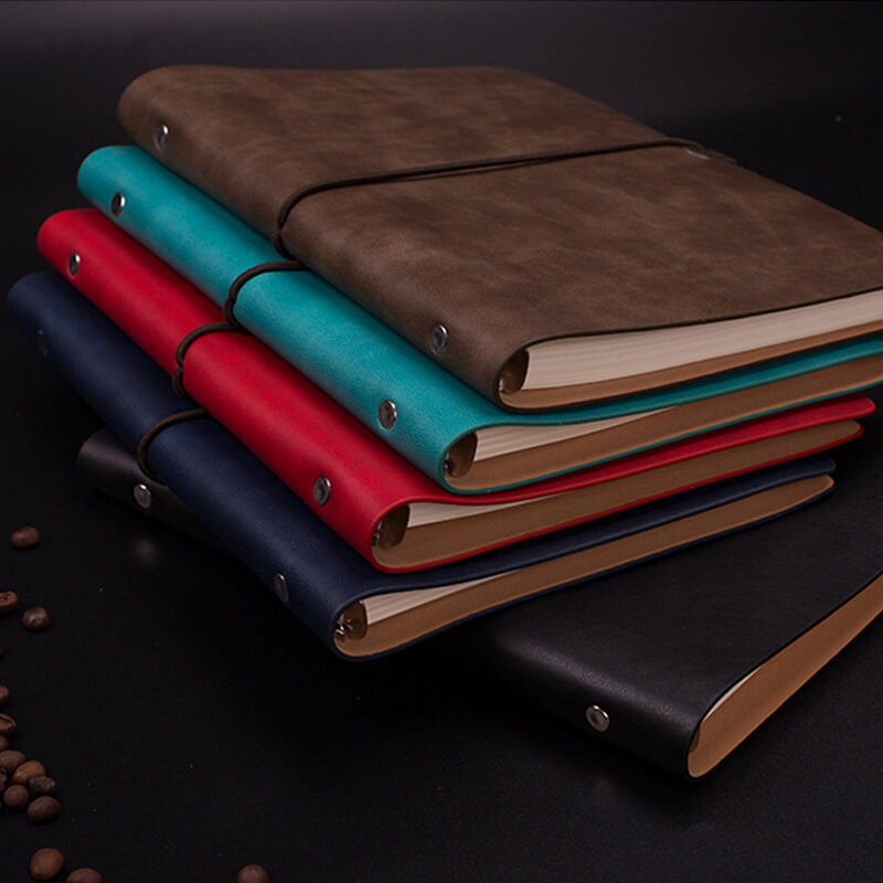 a5 loose leaf notebook soft leather b5 notebook stationery business office notebook11