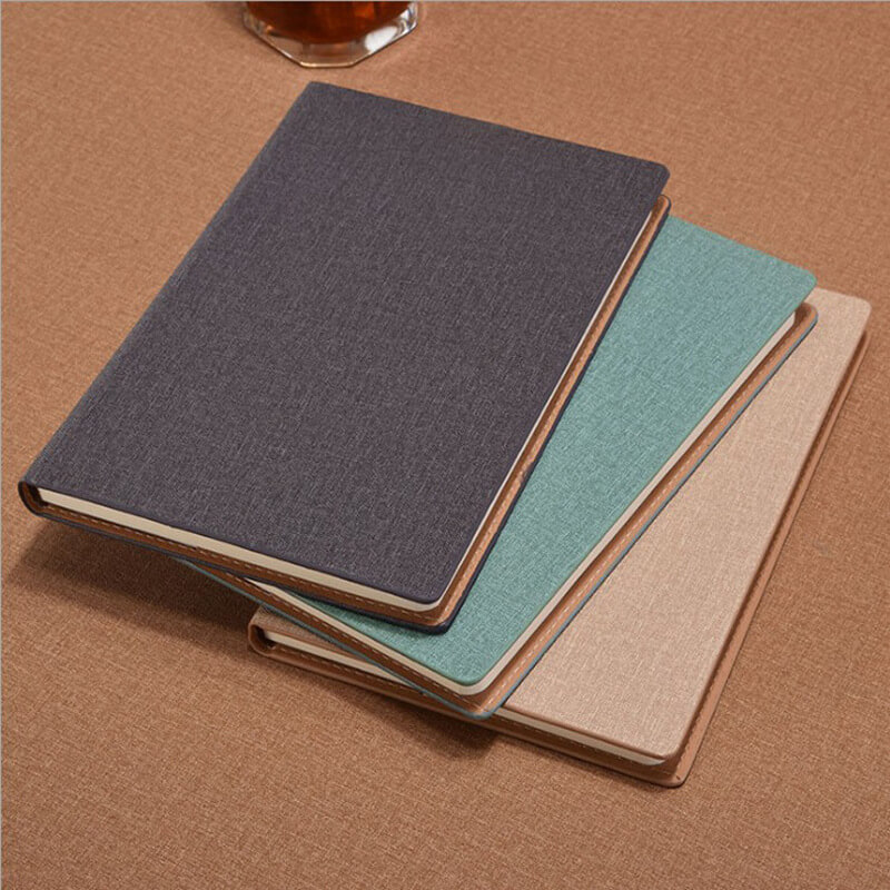 a5 paperback leather notebook cloth pattern student notebook business office notebook8