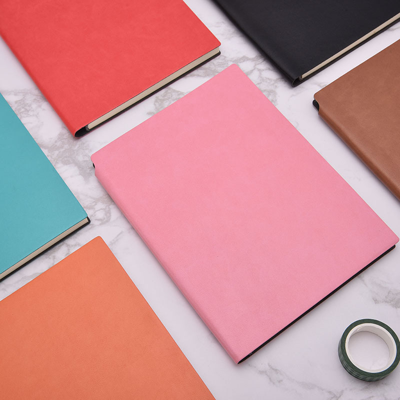 business notebook set cover notebook office soft leather a5 notepad seal9