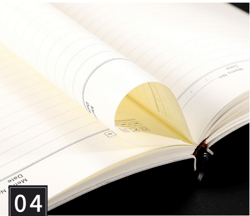 leather pu gift loose leaf notebook direct office a5 notepad can be printed10