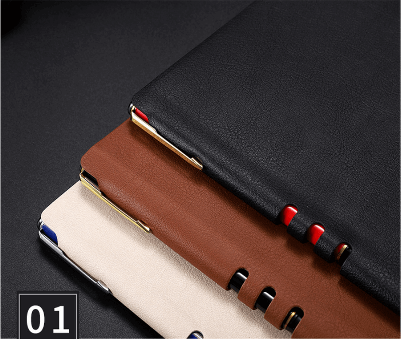 leather pu gift loose leaf notebook direct office a5 notepad can be printed7