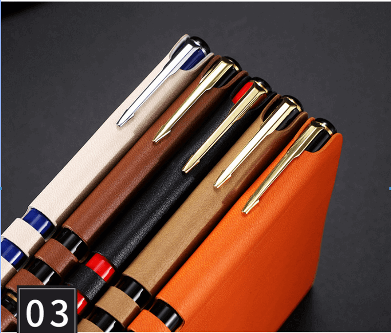 leather pu gift loose leaf notebook direct office a5 notepad can be printed9