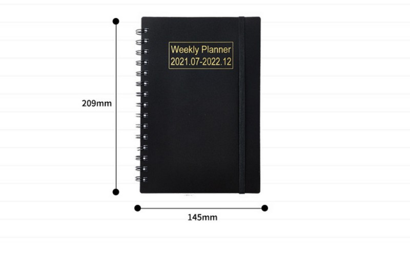 pp cover 2022 english weekly plan monthly plan coil weekly calendar notebook7