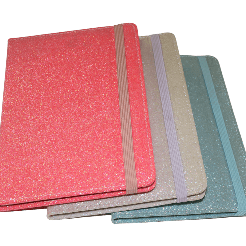shiny polyurethane notebook a5 size hardcover notebook pu covers notepad8
