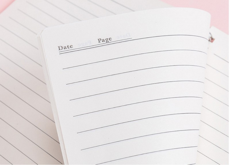 simple transparent pp coil this student a5 horizontal line checkerboard notebook roll over thickened 80 page notepad8
