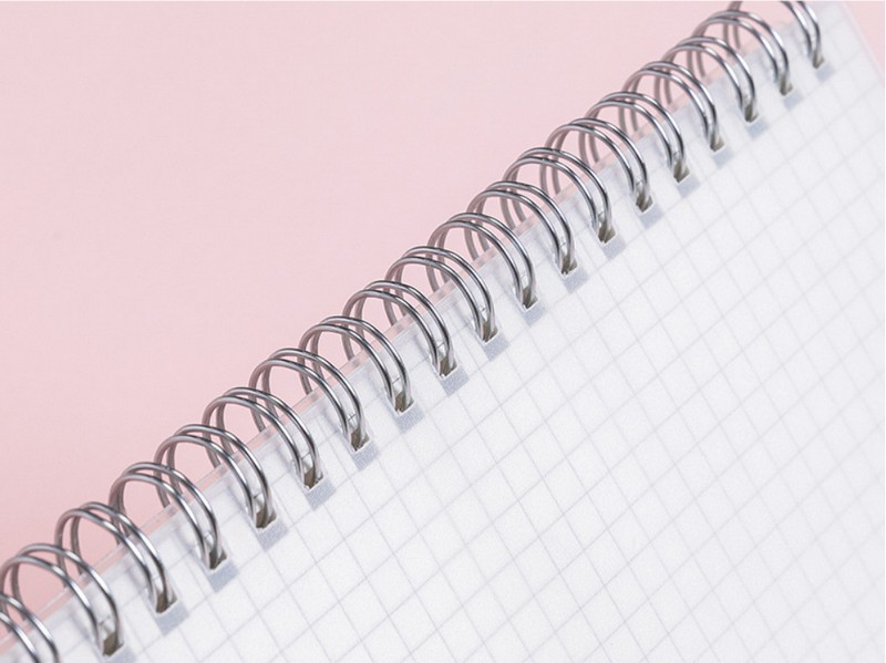 simple transparent pp coil this student a5 horizontal line checkerboard notebook roll over thickened 80 page notepad9