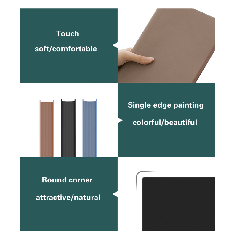 soft surface discoloration pu notebook office supplies super thick notebook notepad meeting book 10